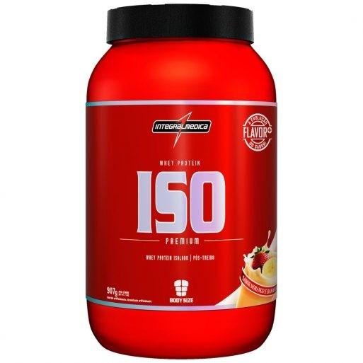 16bd2f3c3 Whey Iso Premium (907g - Morango Com Banana) Integralmédica - R  149 ...