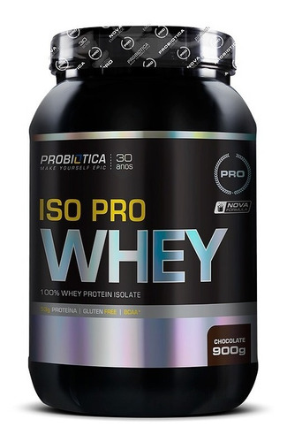 whey isolado iso pro whey protein 900g probiótica