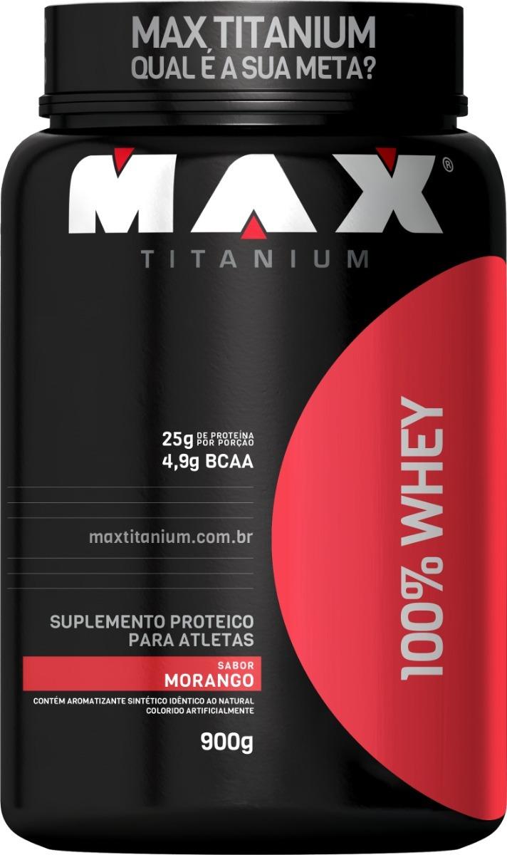 173191d65 100% Whey Max Titanium 900g Proteína Melhor Custo Benefício - R  65 ...