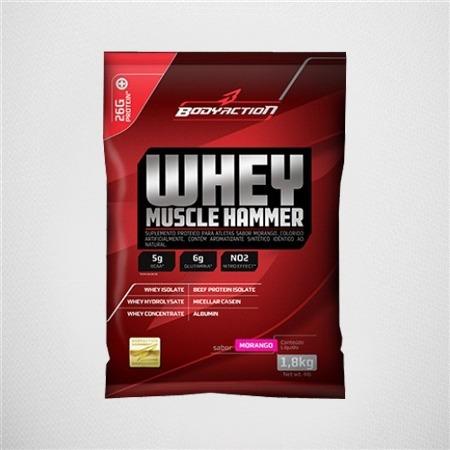 whey muscle hammer (1,8kg) - bodyaction - pêssego