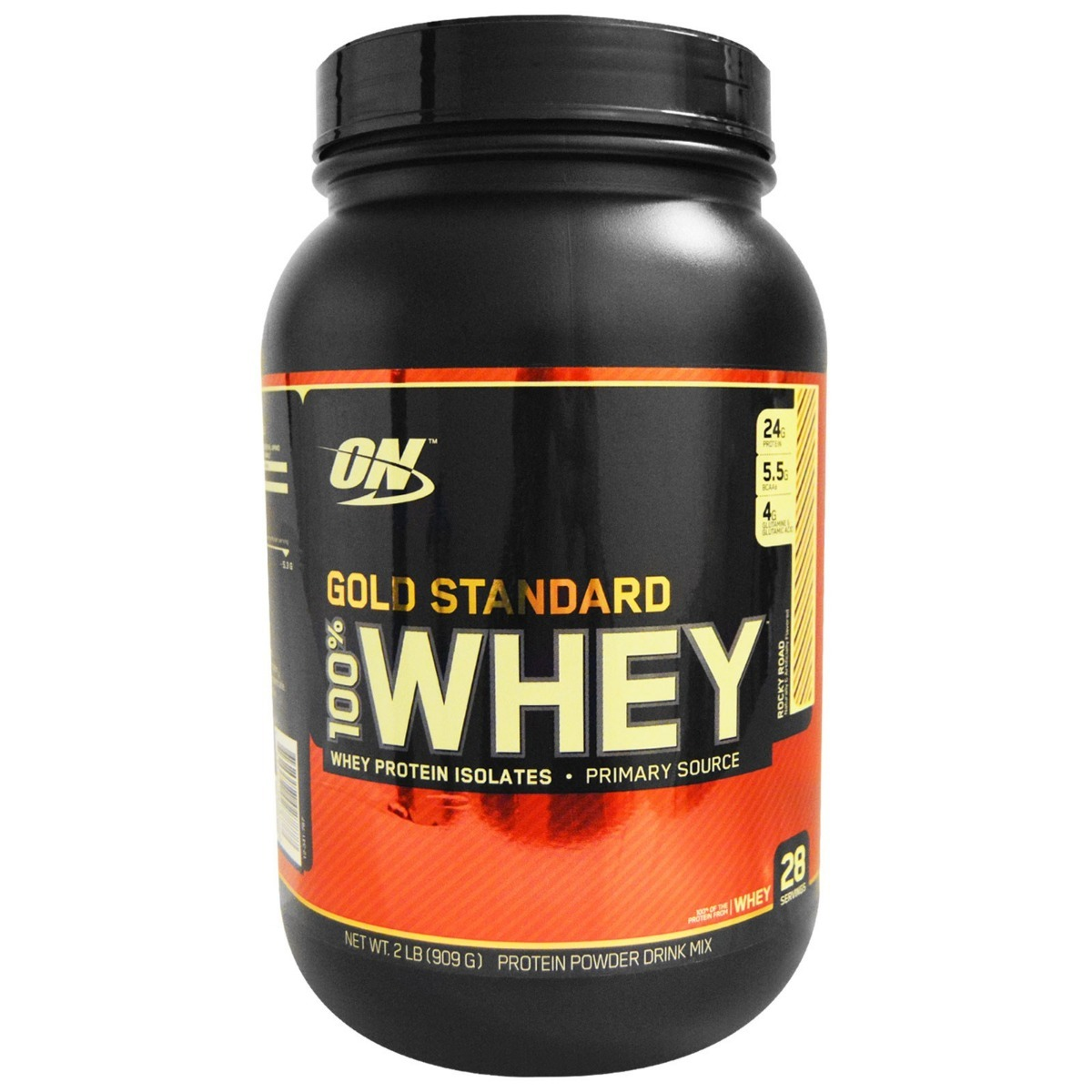 c5856cc90 whey optimum nutrition gold on novo sabor rocky road 900 gr. Carregando  zoom.