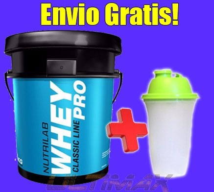 whey pro nutrilab 6 kg suero lacteo premium  envio gratis!