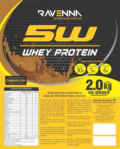whey protein 2kg (refil) ravenna - barato - atacado