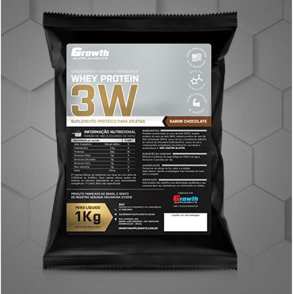 93432c8ca whey protein 3w 1kg concentrado isolado hidrolisado growth. Carregando zoom.