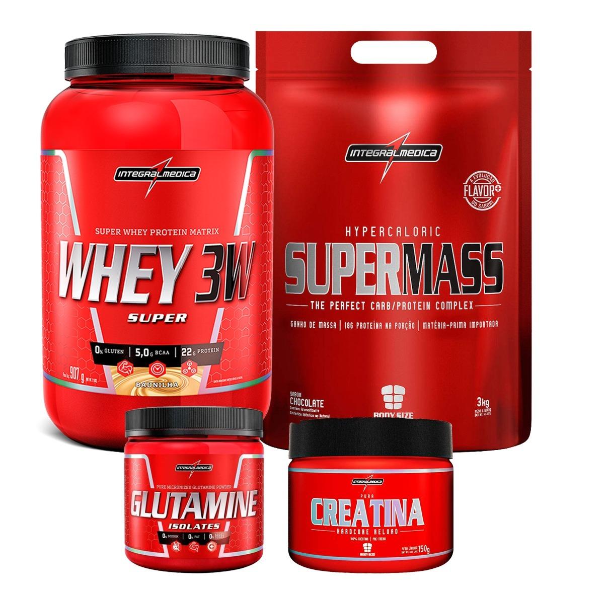 cf65fc8e0 whey protein 3w +hipercalórico+creatina+gluta o melhor !!! Carregando zoom.