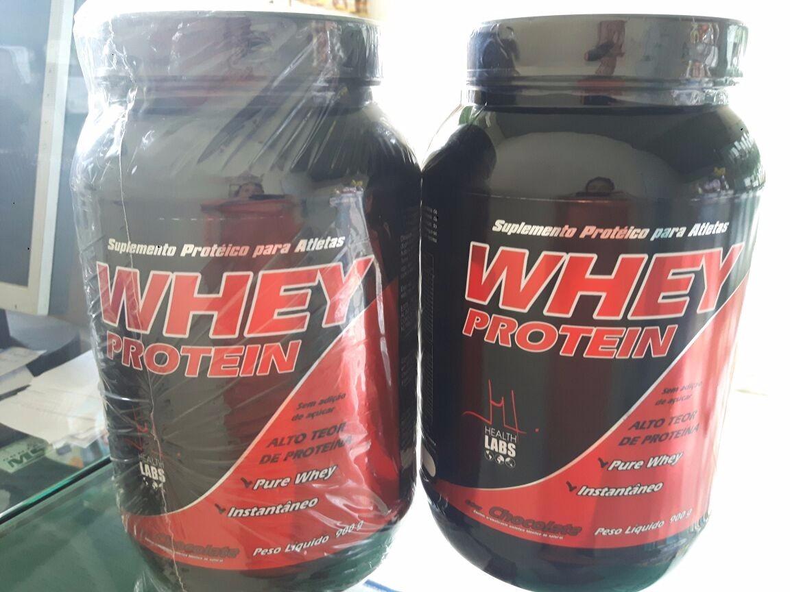 3b1d9f6b9 whey protein 900g - health labs chocolate promoção!!! Carregando zoom.