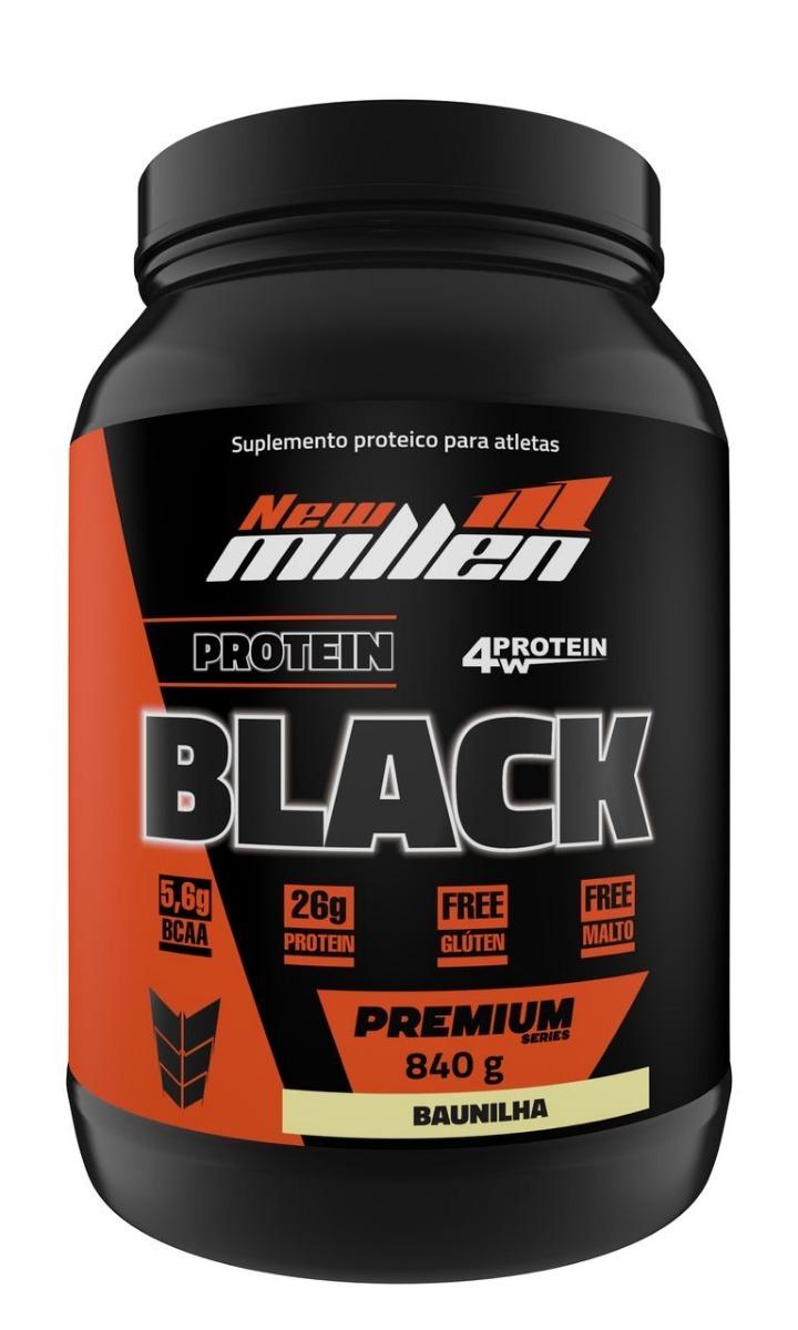 84fea1bdf whey protein black premium new millen 840g. Carregando zoom.