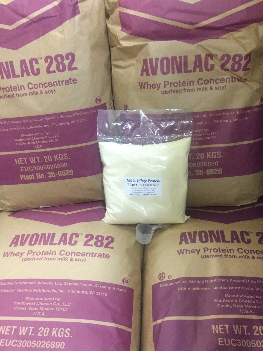 a7fec4605 Whey Protein Concentrado 2kg 100% Puro Importado - Natural - R  196 ...