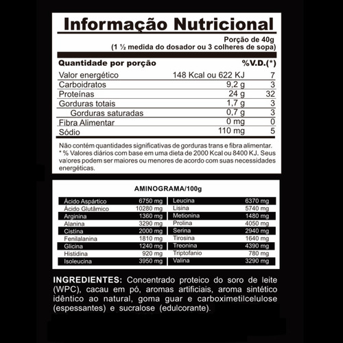 whey protein concentrate 100% pure + glutamina + bcaa + copo