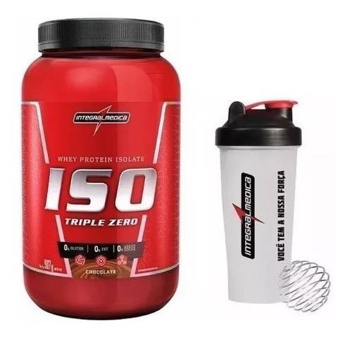 whey protein iso triple zero 907g + brinde - integralmédica