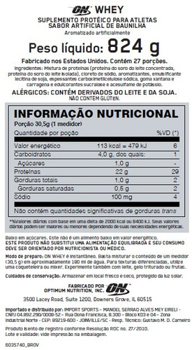 whey protein optimum on conc isolado refil gold