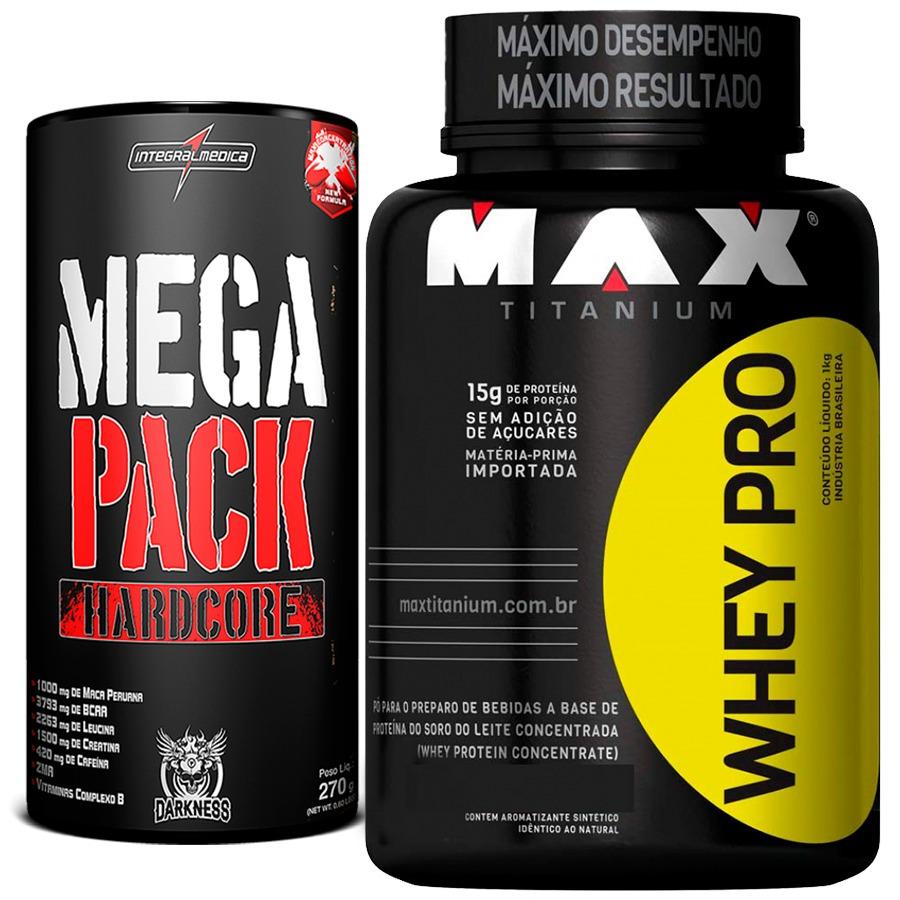 b9c267a03 Mega Pack Integralmedica + Whey Protein Pro Max Titanium - R  163