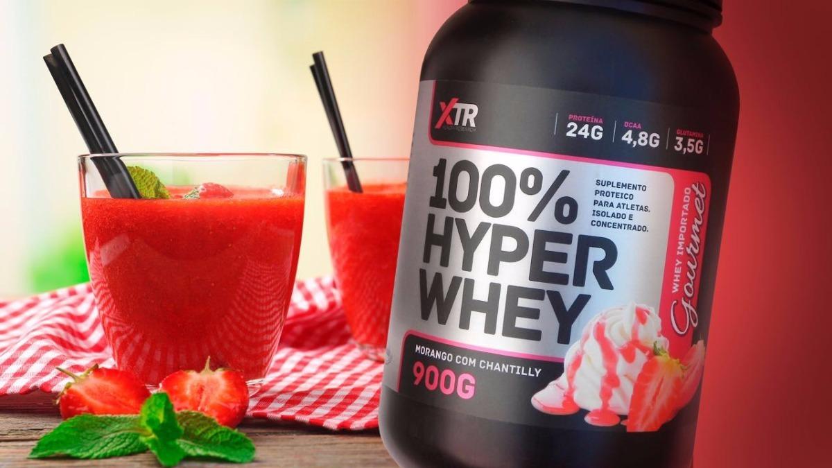 3d9759a6e Whey Protein Xtr 100% Hyper Whey Proteína 900g - R  80