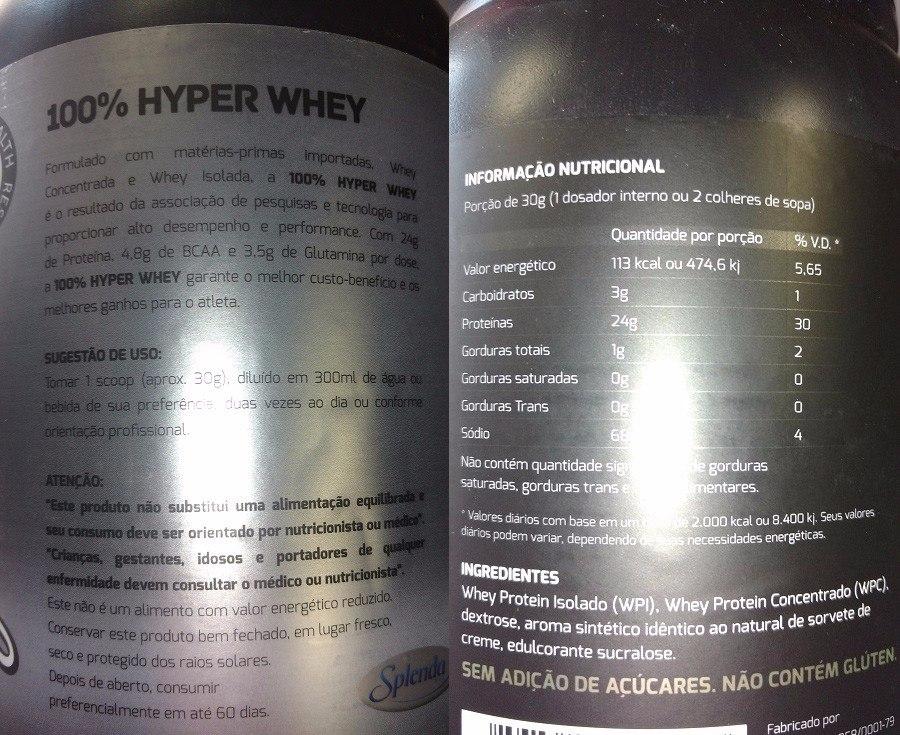 e3b7d9bd8 whey protein xtr 100% hyper whey proteína 900g. Carregando zoom.