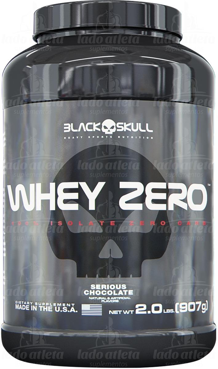 8bc7efc20a whey zero 900g - black skull  cookies   cream  + brinde. Carregando zoom.