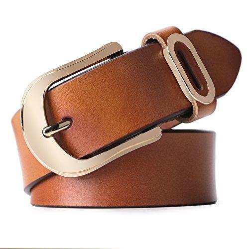 Whippy Cinturon De Cuero Para Mujer Con Hebilla Dorada (1 d315d44fa795