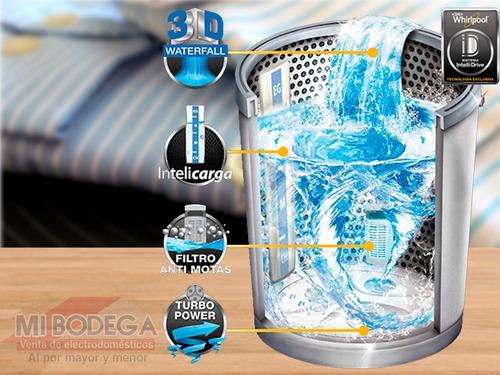 whirlpool lavadora automática carga superior 18kg blanca