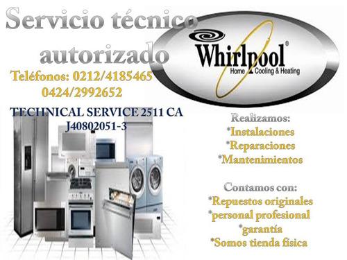whirlpool nevera lavadora secadora servicio técnico mabe