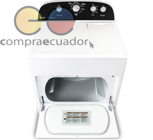 whirlpool secadora eléctrica 42lb 19kg 9 ciclos carga fronta