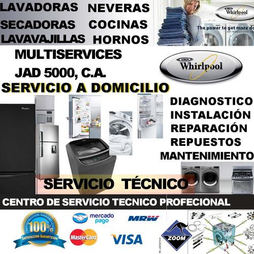 whirpool servicio tecnico nevera lavadora secadora