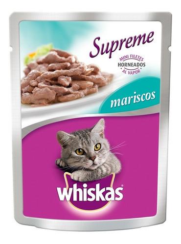 whiskas supreme pouch mariscos 75 gr alimento humedo gato