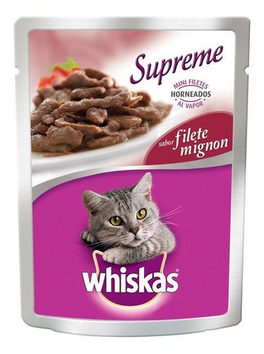 whiskas supreme pouch mignon 75 gr alimento humedo gato