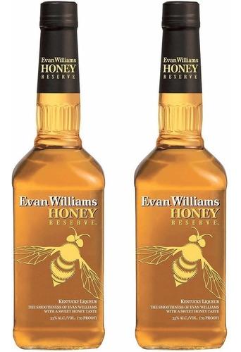 whiskey evan williams honey oferta 2 botellas whisky bourbon
