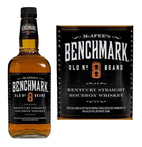 whiskey whisky benchmark nº 8 bourbon 750ml americano 40%