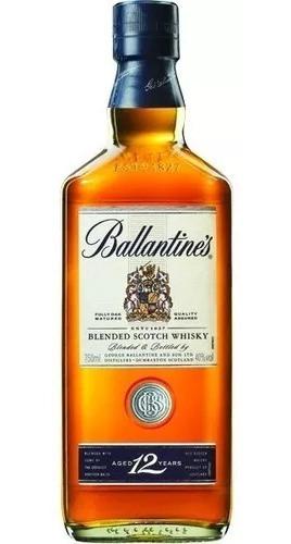 whisky ballantines 12 años (750.ml) 100 % original
