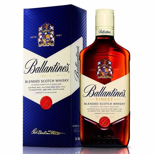 whisky ballantines de litro c/estuche envio gratis en caba
