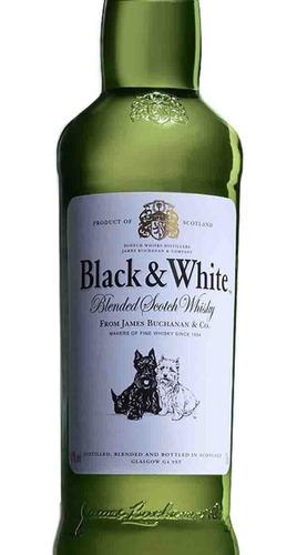 whisky black and white 0,75l botella lf