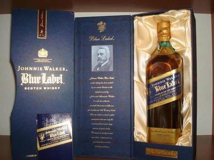 whisky blue label original johnnie walker etiqueta azul