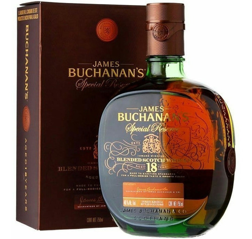 whisky buchanans 18 años con estuche escoces