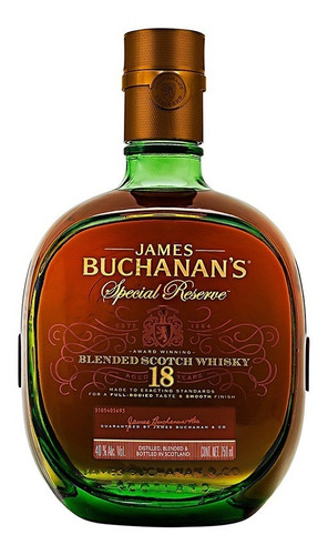 whisky buchanans 18 años  de 750ml.