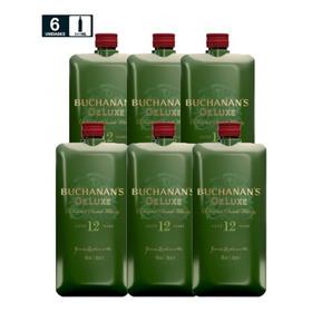 Whisky Buchanans Deluxe 12 Años Mini Scotch 200ml Cj 6pzas