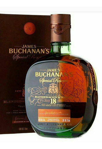 whisky buchanas 18 años botella