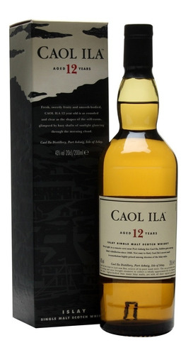 whisky caol ila 12 años 750ml single malt islay whiskey