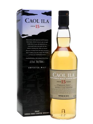 whisky caol ila 15 años unpeated 61,5 % ed. 2016 750 ml