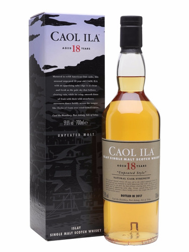 whisky caol ila 18 años unpeated 55,90% 750 ml - envio s c!
