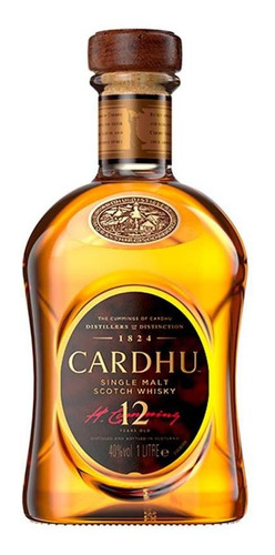 whisky cardhu 12 anos - 1l