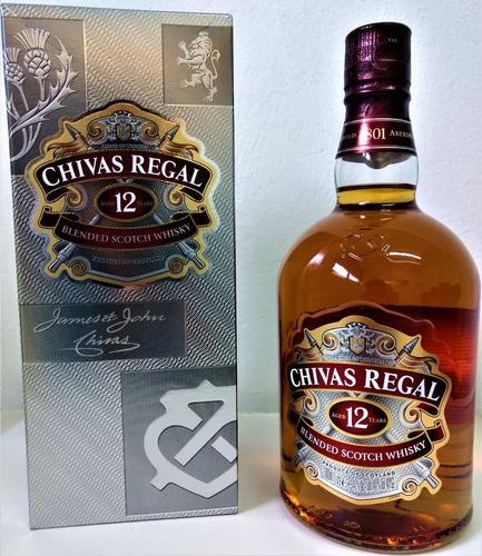whisky chivas 12 años 1000cc + estuche