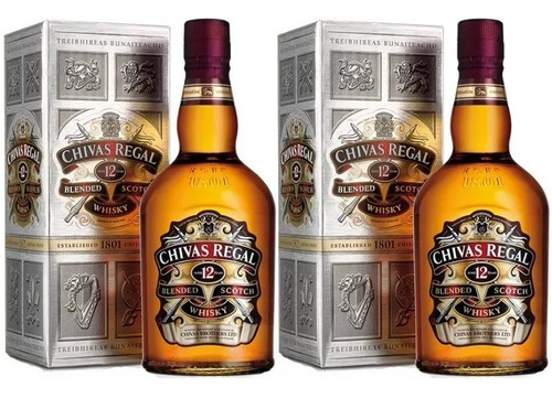 whisky chivas 12 años 750 cc.