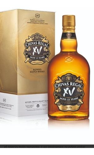 whisky chivas 15 años + estuche rigido