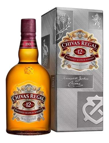 whisky chivas regal 12 años 750cc