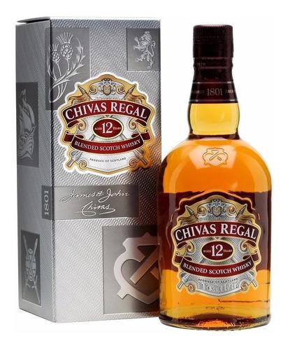 whisky chivas regal 12 años 750ml c/estuche - perez tienda -
