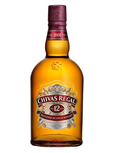 whisky chivas regal 12 anos 750ml com lata ed. 2018