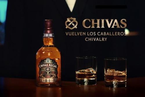 whisky chivas regal 12 años c/estuche envio gratis caba