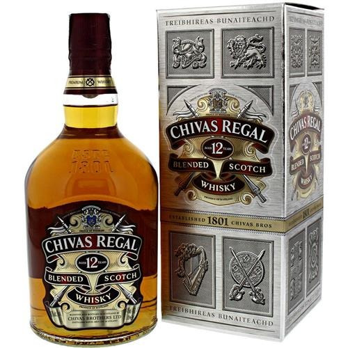 whisky chivas regal 12 años (litro) 100 % original
