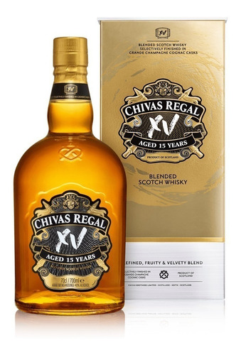 whisky chivas regal 15 años de 750ml con estuche