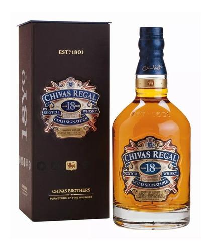 whisky chivas regal 18 años 750cc en estuche. ideal regalo